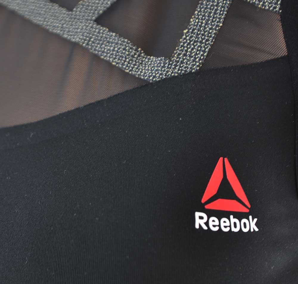 Reebok Cord BRA X Kevla CrossFit Damen Sport Fitness bh SpeedWick Schwarz – Bild 2