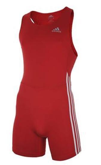 Adidas 3 Stripe Speeds Suit ClimaLite Stretch Running Sprintsuit Rot XS – Bild 1