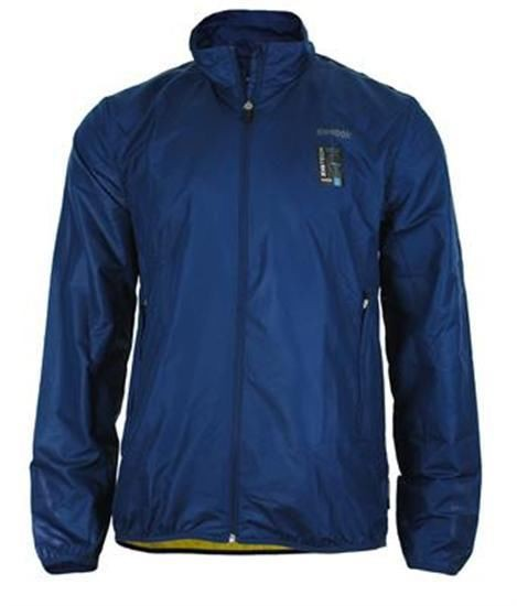 Reebok Zig Tech AT Jacket Mens Herren Slim Running Jacke Play Dry Blau Größe XL