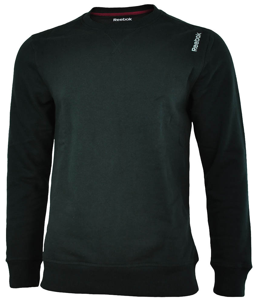 Reebok EL Fleece Crew Sweat Mens Herren Sweatshirt Pullover Schwarz