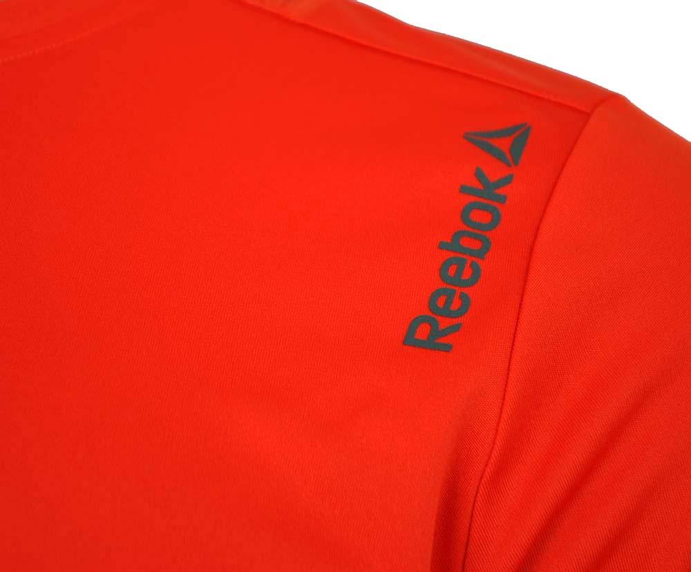 Reebok RE SS Tee CrossFit Herren SpeedWick Reflectivity Running T-Shirt Orange – Bild 2