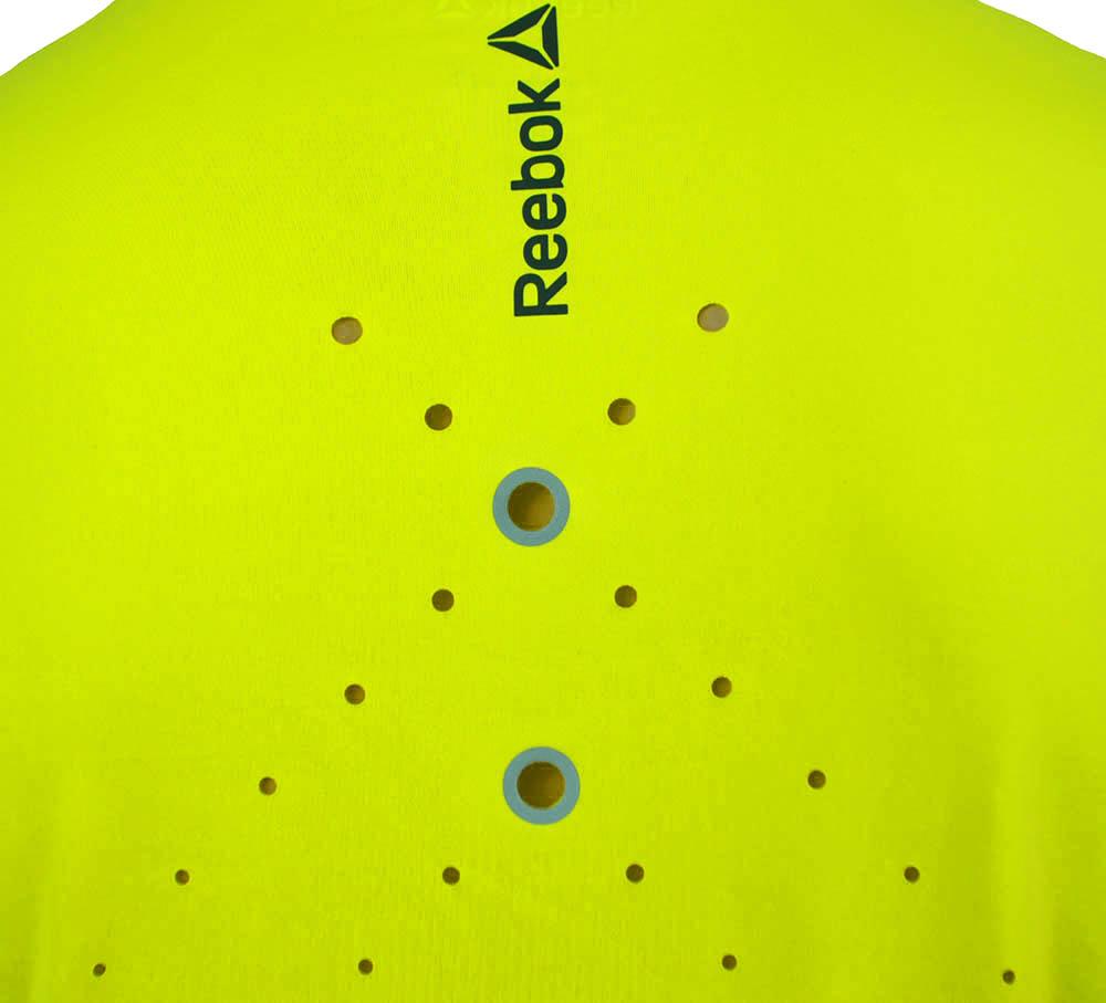 Reebok OSR SS Tee CrossFit Herren Play Ice Reflectivity Running T-Shirt Solar Gelb – Bild 4