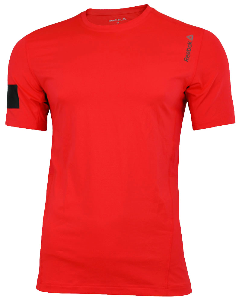 Reebok OS ADV SS Top Tee CrossFit Herren PlayIce Reflectivity Training T-Shirt NeoChe – Bild 1