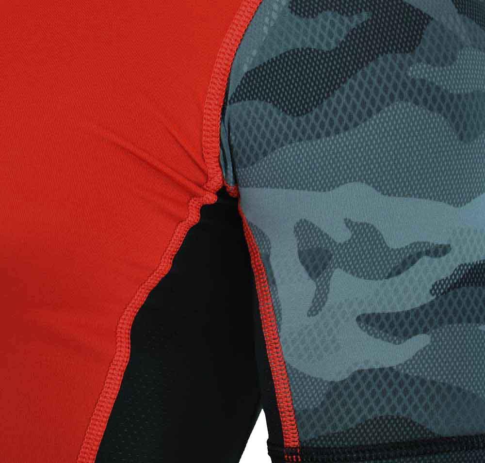 Reebok OS PW3R SS Compression Tee CrossFit Herren SpeedWick Training T-Shirt Rot – Bild 3