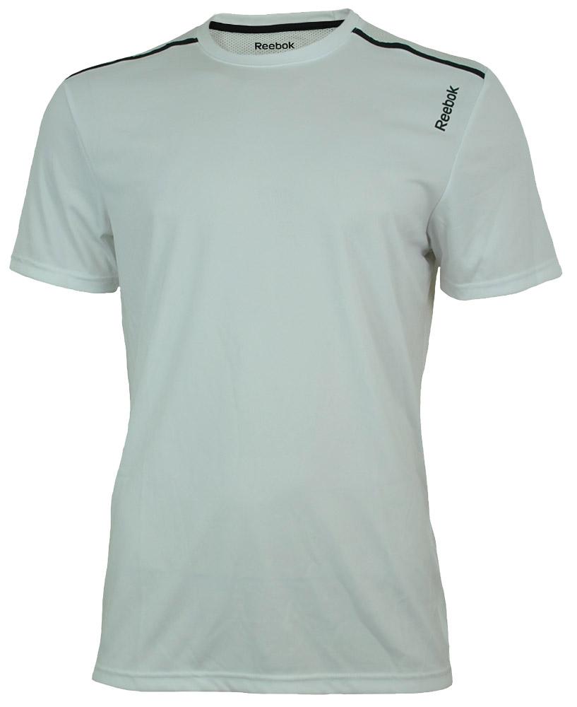 Reebok WOR Tech Top Tee Herren PlayDry Funktionsshirt Sport Fitness T-Shirt Weiß – Bild 1