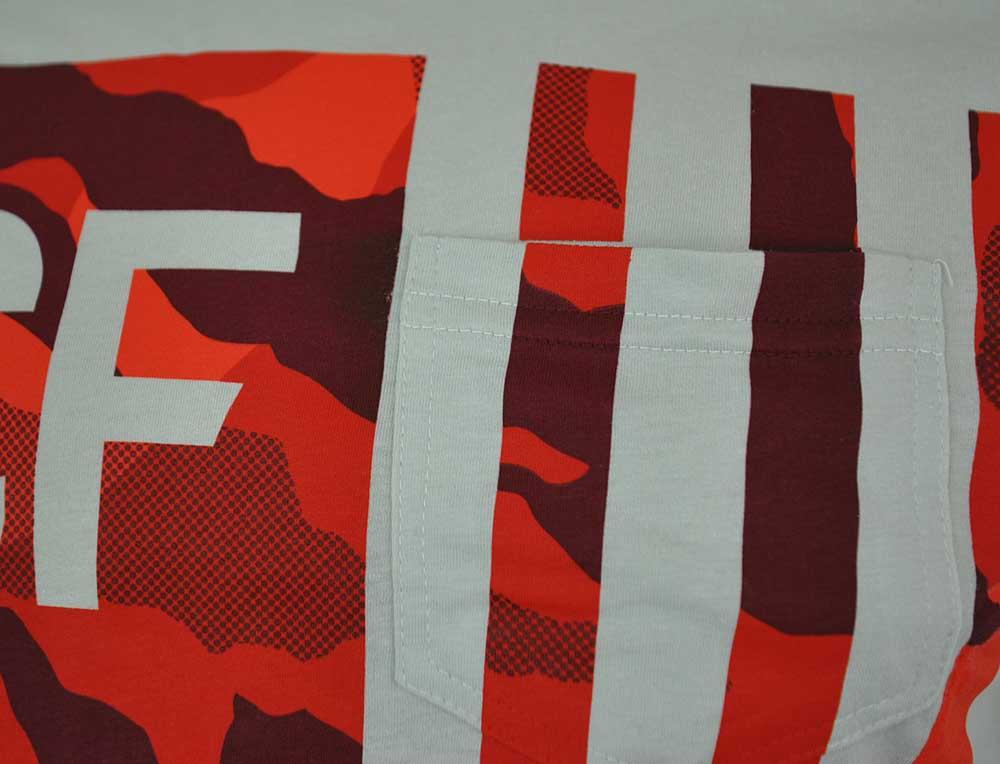 Reebok RCF Camo Flag Tee CrossFit Herren Slim Fit T-Shirt Hellgrau – Bild 2