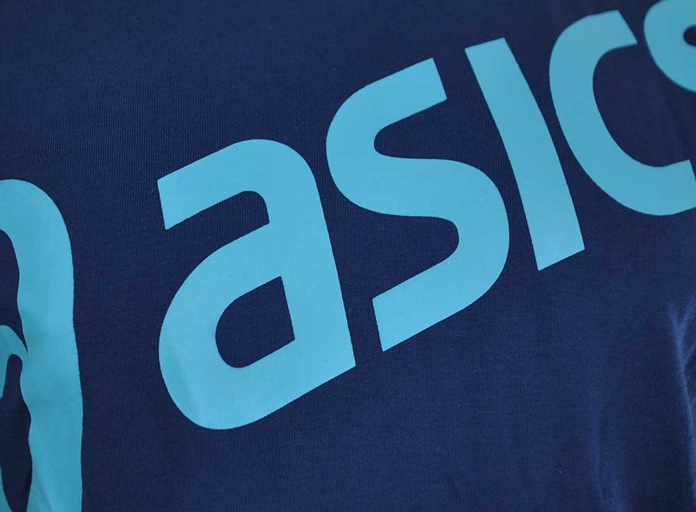 Asics Logo SS Top Tee Herren SportLifestyle Fitness Shirt T-Shirt Indigo Blau – Bild 2