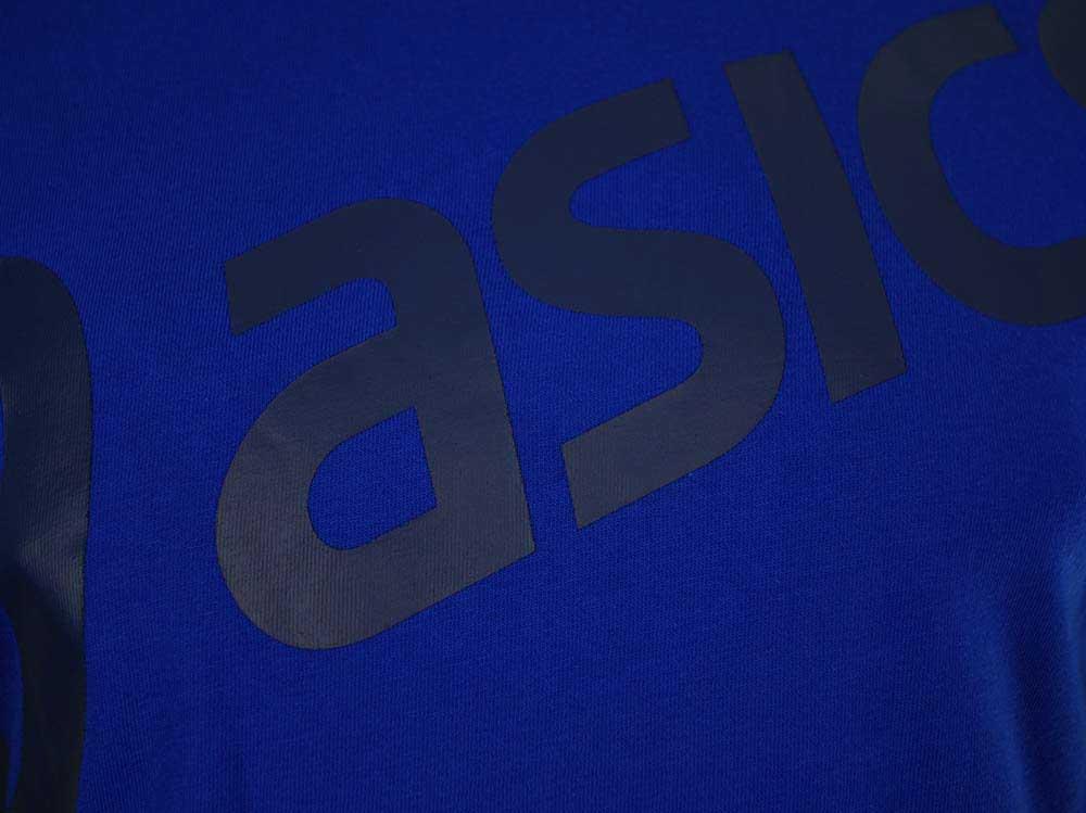 Asics Logo SS Top Tee Herren SportLifestyle Fitness Shirt T-Shirt Blau – Bild 2