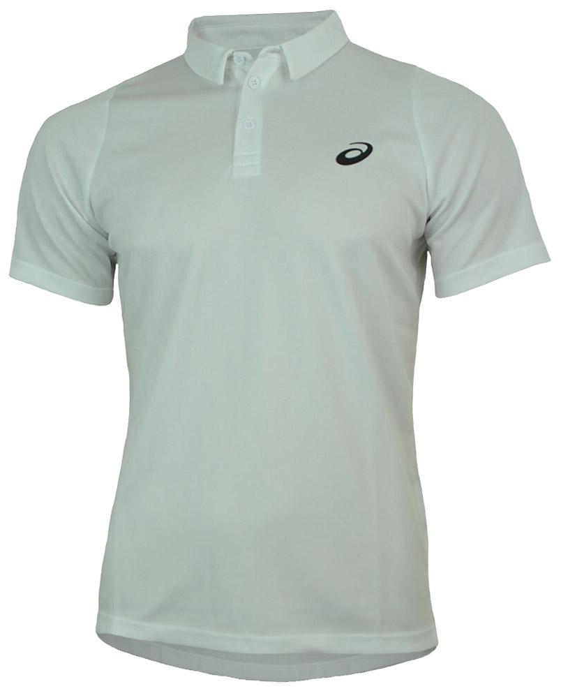 Asics Club SS Polo Herren Tennis MotionDry Sport Fitness Poloshirt Shirt Weiß – Bild 1