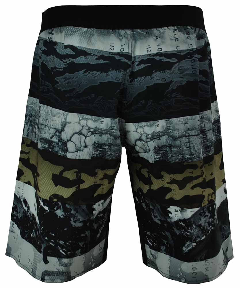Reebok OS SUB Camo Short CrossFit Herren SpeedWick Training Board Shorts Grau