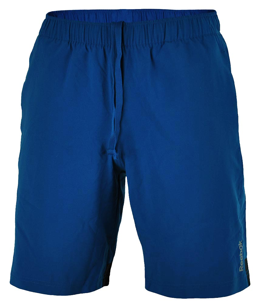 Reebok SE Woven Short Herren PlayDry Funktionsshort Fitness Training Shorts Blau – Bild 1
