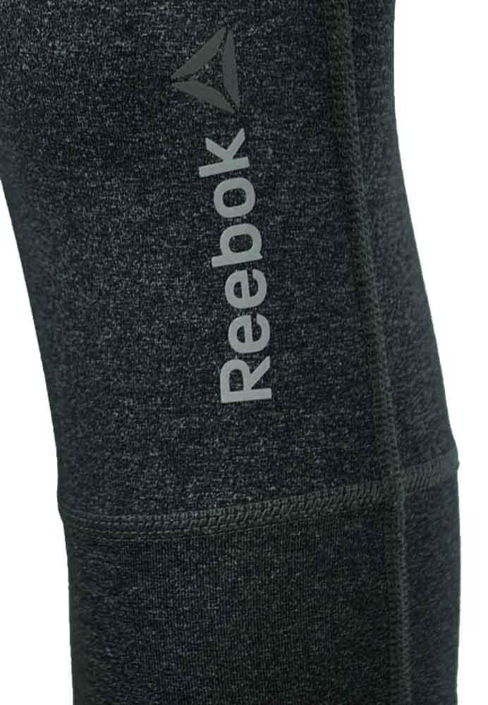 Reebok OS NYLUX Capri Damen Studio Fitness Hose CrossFit PlayDry Short Thight Grau – Bild 2