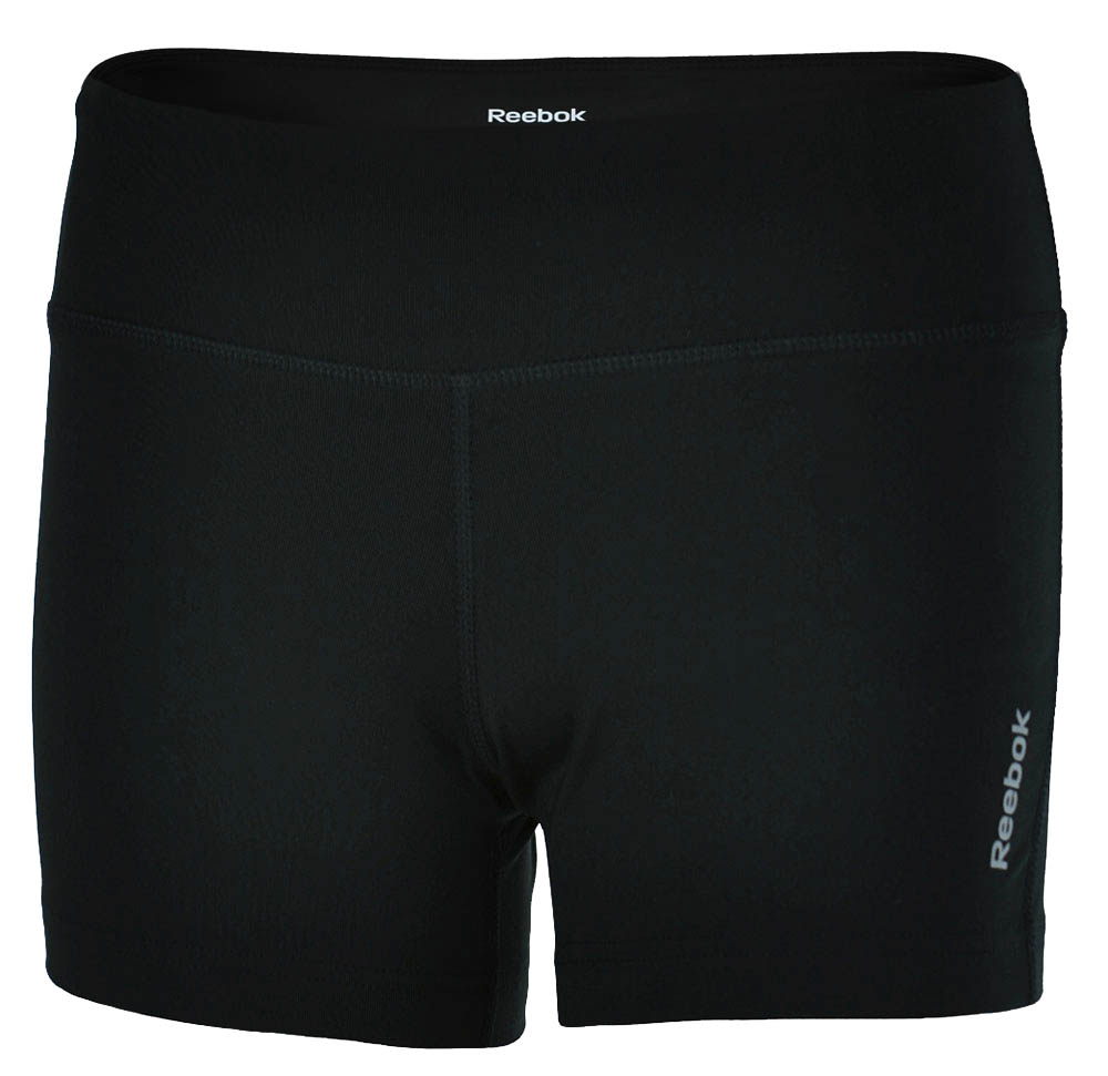 Reebok SE Short Tight Damen PlayDry Hotpant Fitness Stretch Shorts Schwarz – Bild 1