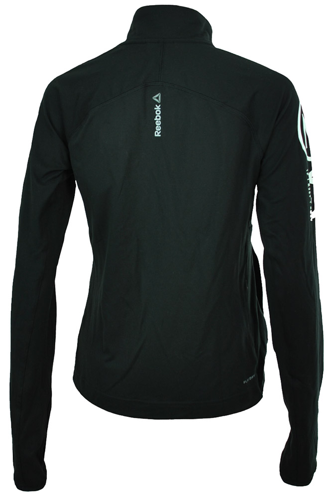 Reebok OS Track Jacket US Damen Crossfit Slim Play Dry Trainingsjacke Schwarz – Bild 4