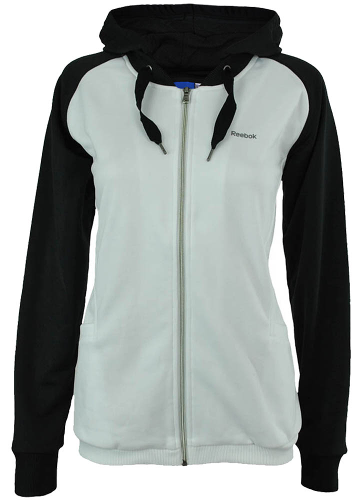 Reebok T-Suit hd Track Jacket Slim Fit Damen Fitness Jacke Trainingsjacke Weiß