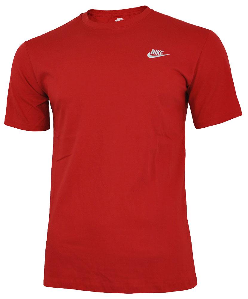 Nike Core Tee Herren Sport Slim Fit Fitness Baumwolle Shirt T-Shirt Rot 001