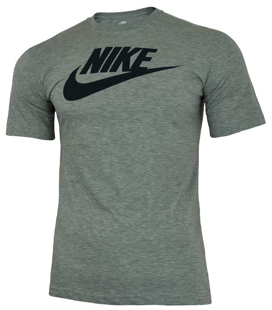 Nike Futura Tee Herren Sport Slim Fit Fitness Baumwolle Shirt T-Shirt Grau 001