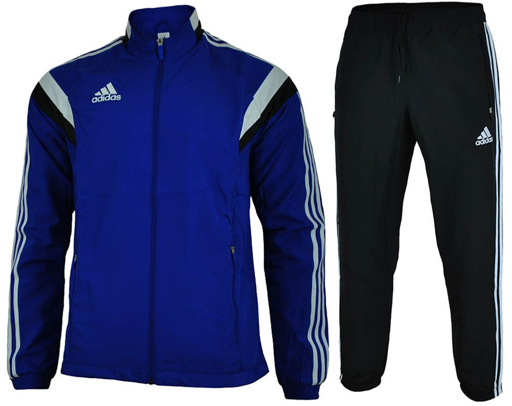 Adidas Con 14 Pre Suit Mens Regular FIT Sportanzug Herren Trainingsanzug Blau – Bild 1