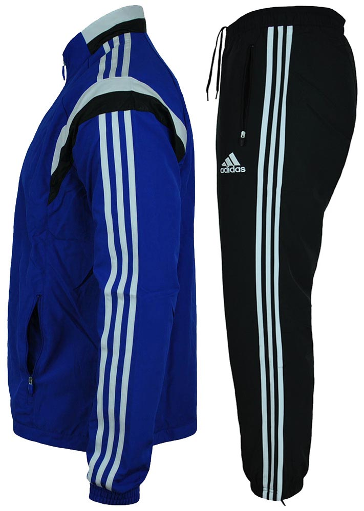 Adidas Con 14 Pre Suit Mens Regular FIT Sportanzug Herren Trainingsanzug Blau – Bild 3