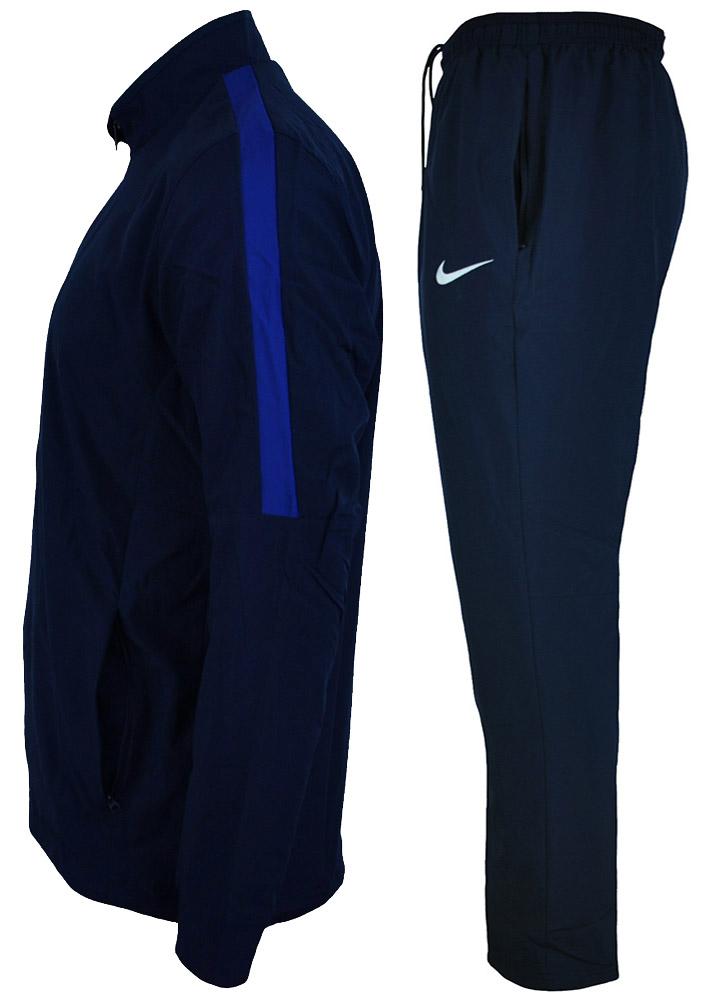 Nike Academy 16 Suit Herren Dri Fit Tracksuit Sportanzug Trainingsanzug Navy/Blau – Bild 3