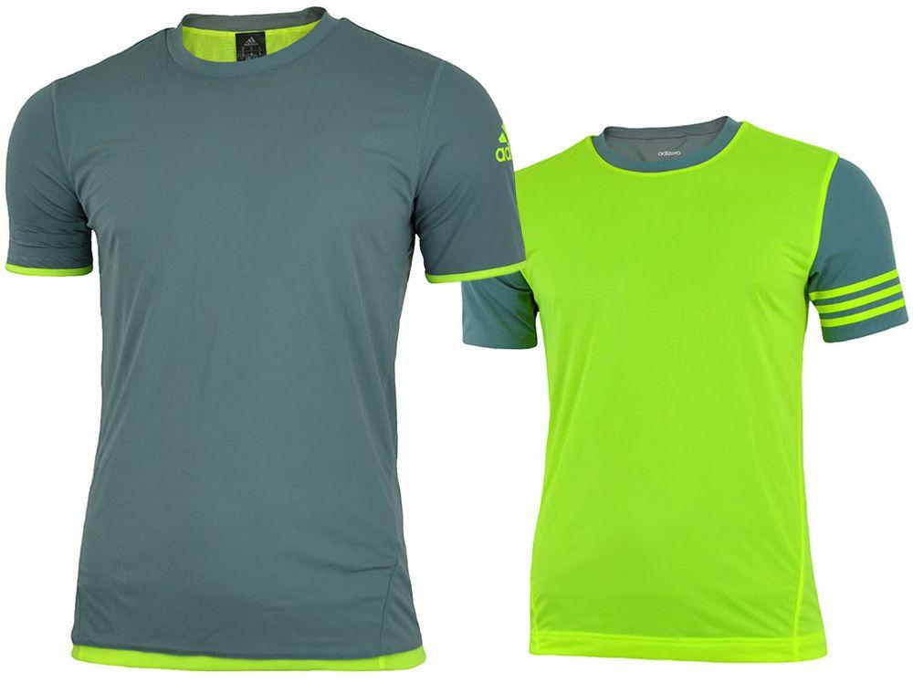 Adidas UFB Reversible JSY Tee Herren Adizero Shirt wendbar T-Shirt Grau/Gelb 001