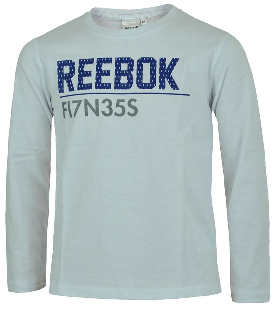 Reebok Long Sleeve T-Shirt Boys Jungen Longshirt Langarmshirt Shirt Weiß
