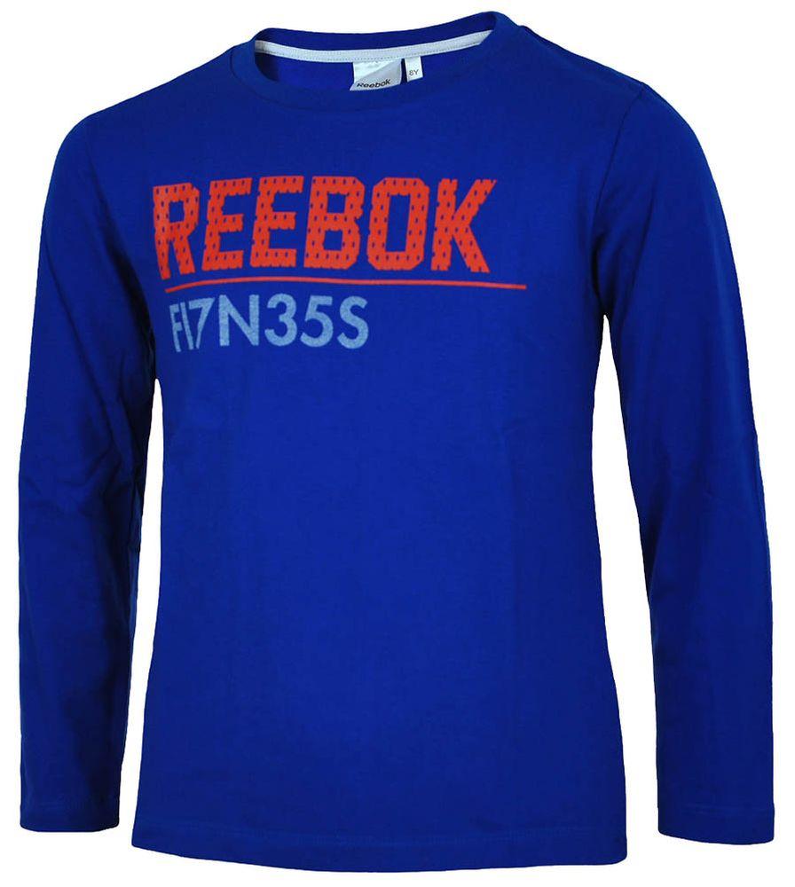 Reebok Long Sleeve T-Shirt Boys Jungen Longshirt Langarmshirt Shirt Blau