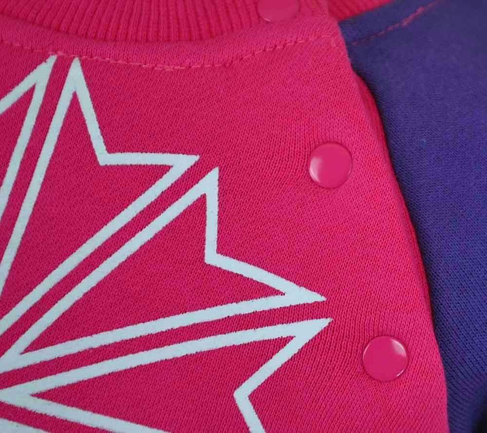 Reebok Jogging Set Kids Tracksuit Baby Jogginganzug Trainingsanzug Pink/Grau – Bild 2