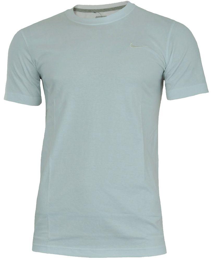 Nike Classic Tee Herren Sport Regular Fit Fitness Baumwolle T-Shirt Weiß/Weiß – Bild 1