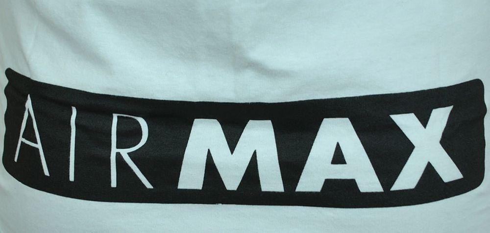 Nike Air Max Tee Herren Sport Fitness Baumwolle Shirt T-Shirt Weiß/Schwarz – Bild 4