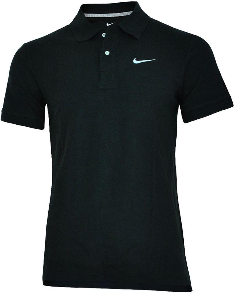 Nike Classic Polo Herren Sport Fitness Baumwolle poloshirt Shirt Schwarz – Bild 1