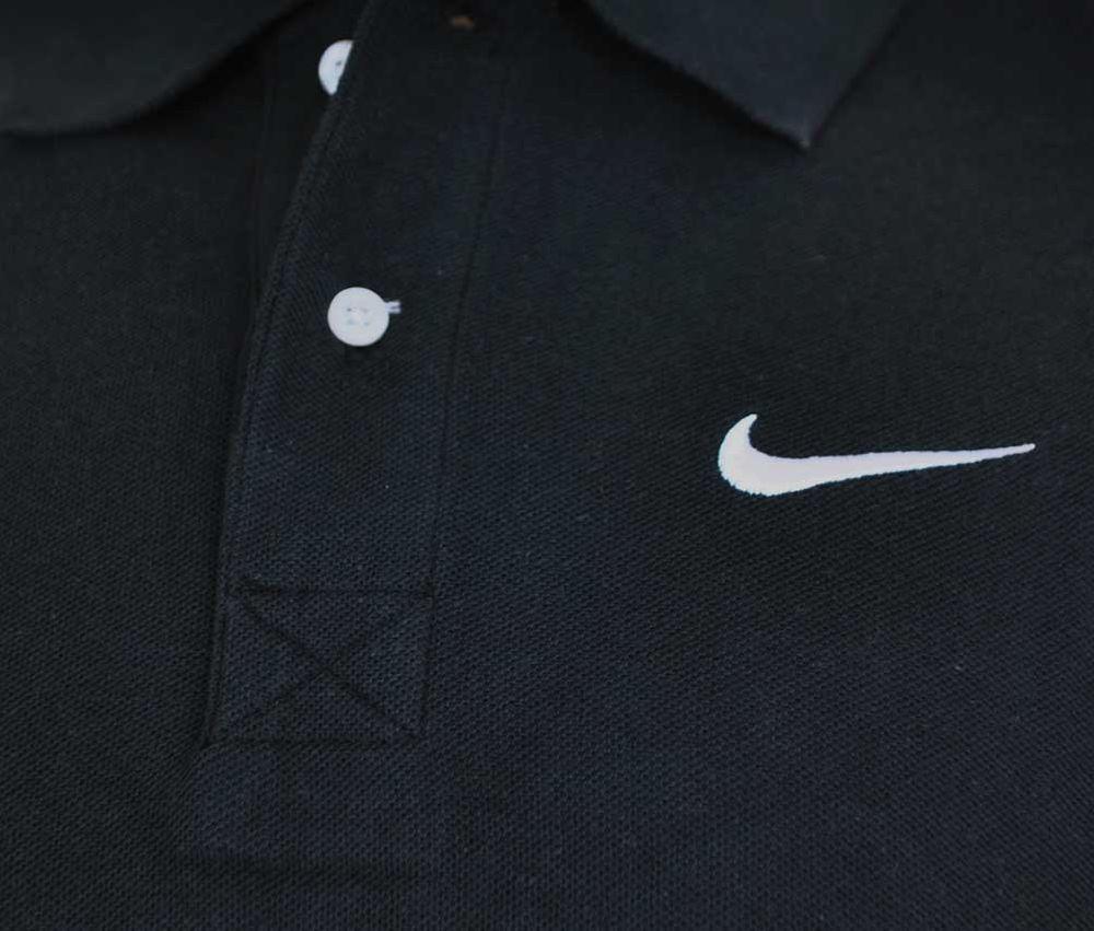 Nike Classic Polo Herren Sport Fitness Baumwolle poloshirt Shirt Schwarz – Bild 2