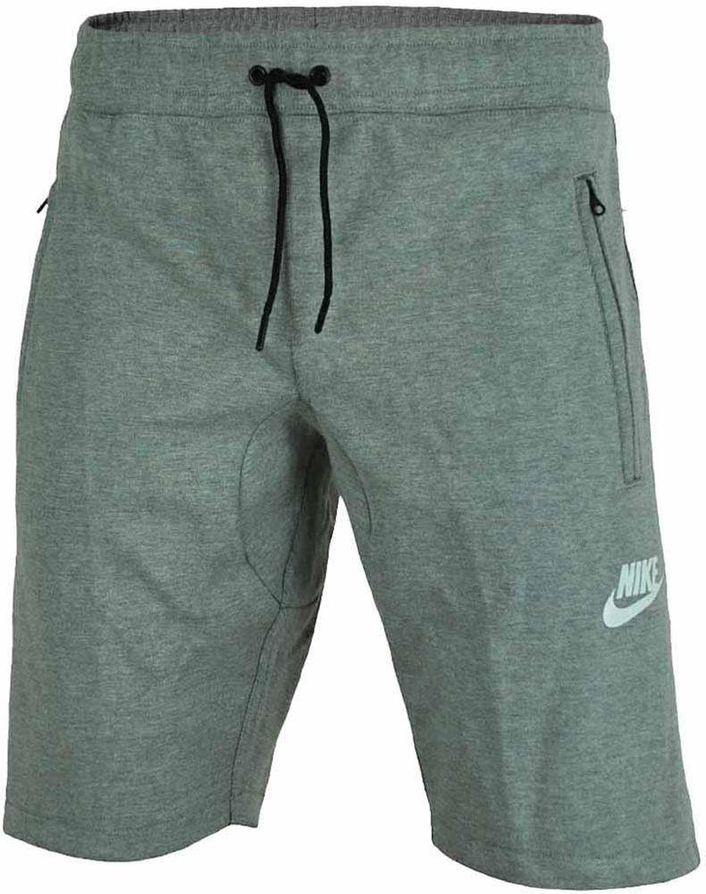 Nike NSW Fleece Short Herren Shorts Sport Fitness Kurze Hose Bermuda Grau