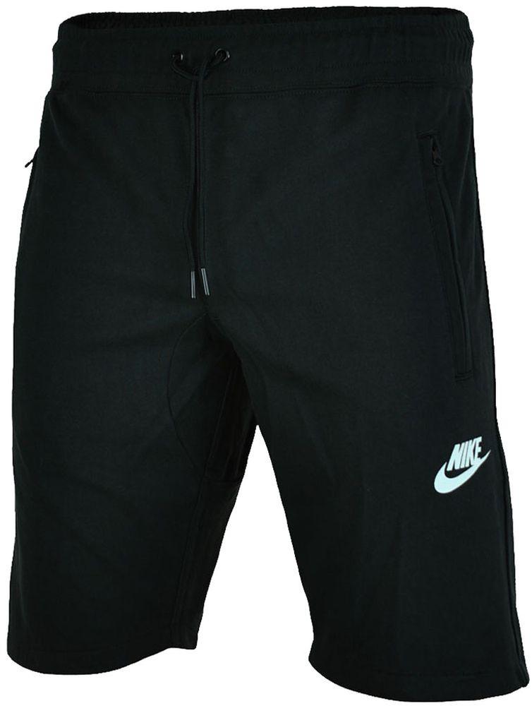 Nike NSW Fleece Short Herren Shorts Sport Fitness Kurze Hose Bermuda Schwarz