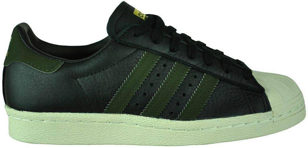 Adidas Superstar 80s Originals Trefoil Herren Sneaker Sportschuhe SchwarzGrün