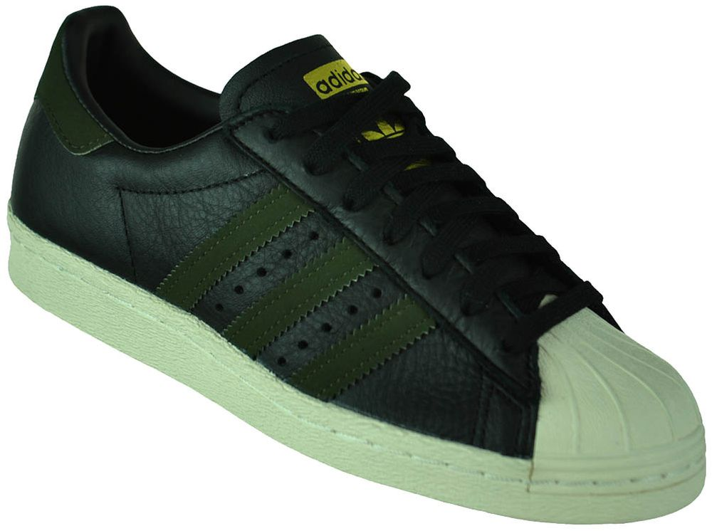 Adidas Superstar 80s Originals Trefoil Herren Sneaker Sportschuhe Schwarz/Grün