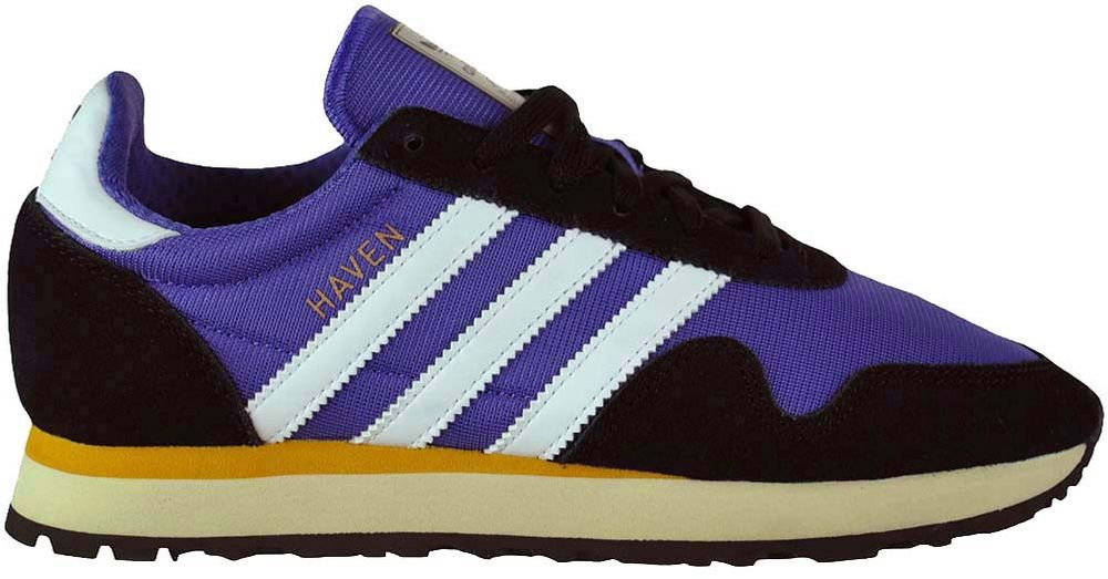 Adidas Haven Trainer Originals Trefoil Unisex Laufschuhe Sneaker Sportschuhe Schwarz/Lila – Bild 4