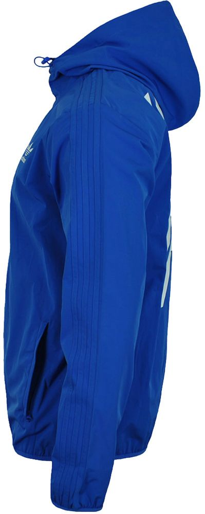 Adidas NYC Heringbe WB Herren Windbreaker Originals Retro Windjacke Jacke Blau – Bild 3