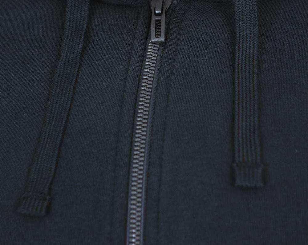 Adidas ESS Linear FZ Hood Hoody Jacket Herren Kapuzenjacke Sweatjacke Schwarz – Bild 2