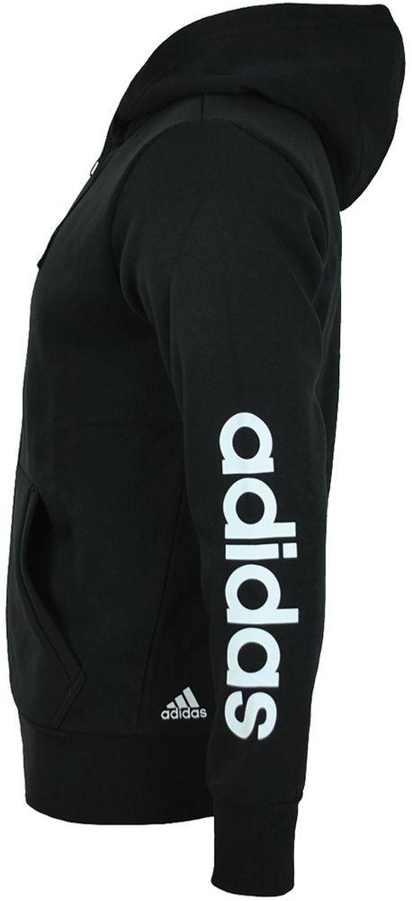Adidas ESS Linear FZ Hood Hoody Jacket Herren Kapuzenjacke Sweatjacke Schwarz – Bild 3