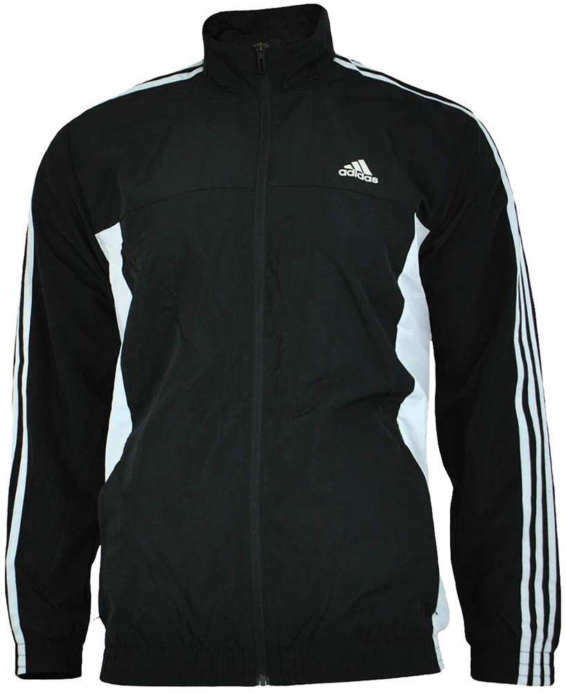 Adidas TS Basic 3S Herren Trainingsjacke Jacke Track Jacket Schwarz
