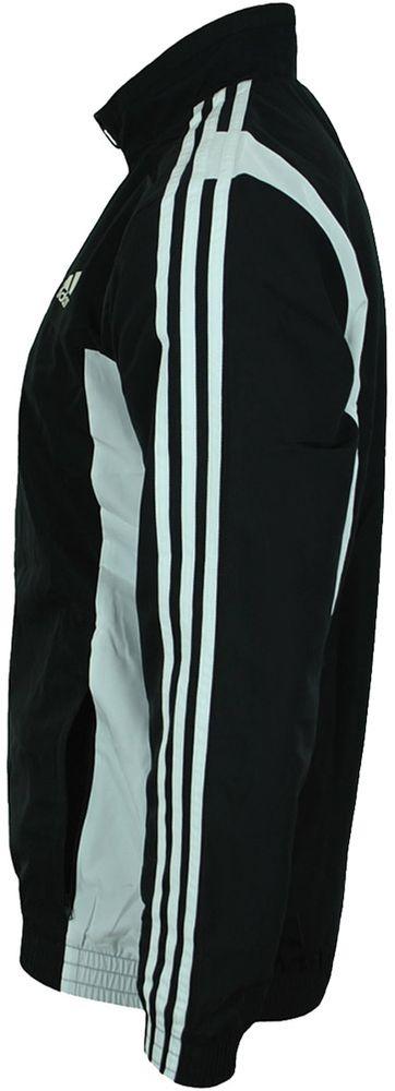 Adidas TS Basic 3S Herren Trainingsjacke Jacke Track Jacket Schwarz – Bild 5