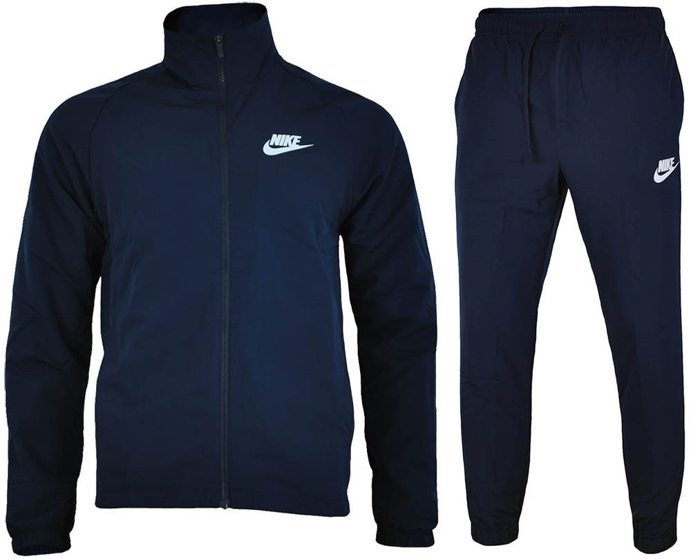 Nike NSW Basic Tracksuit Herren Sportanzug Trainingsanzug Navy