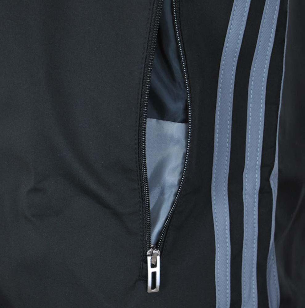 Adidas CON 16 Travel Jacket Herren Übergangsjacke Windjacke Jacke Schwarz – Bild 3