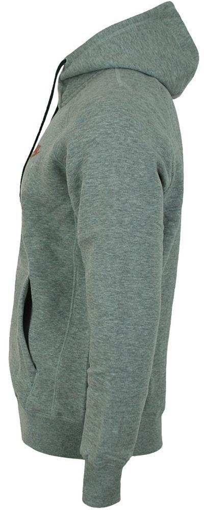 Nike Air NSW FZ FLC Hoodie Herren Kapuzenpullover Sweatjacke Hoody Grau/Rot – Bild 3
