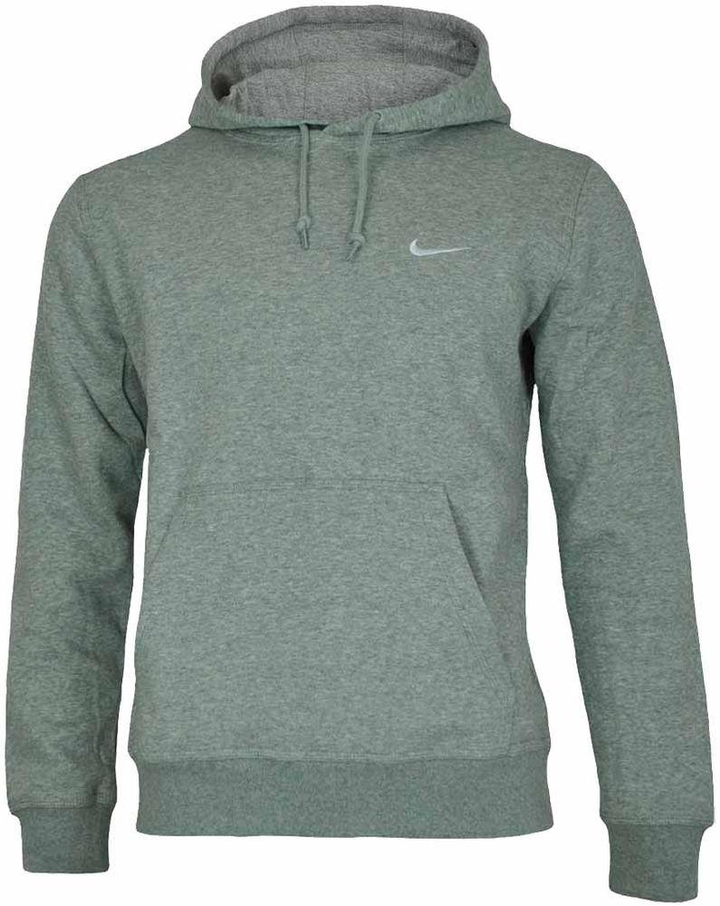 Nike Classic Swoosh Club Hoodie Herren Kapuzenpullover Sweatshirt Hoody Hellgrau – Bild 1