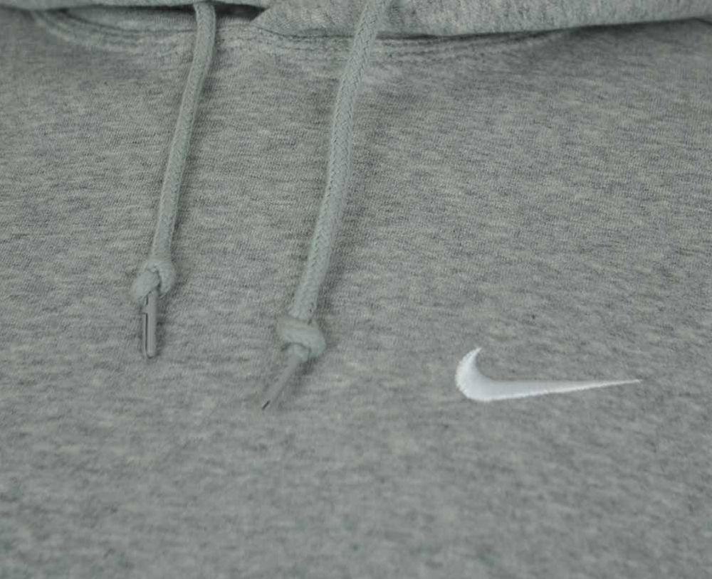 Nike Classic Swoosh Club Hoodie Herren Kapuzenpullover Sweatshirt Hoody Hellgrau – Bild 2