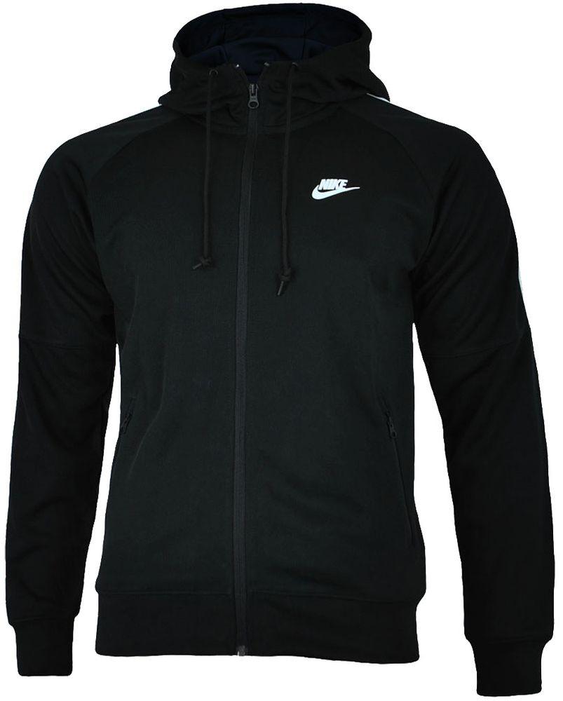 Nike Tribute Hooded Track Jacket Herren Kapuzenpullover Hoody Schwarz/Weiß – Bild 1
