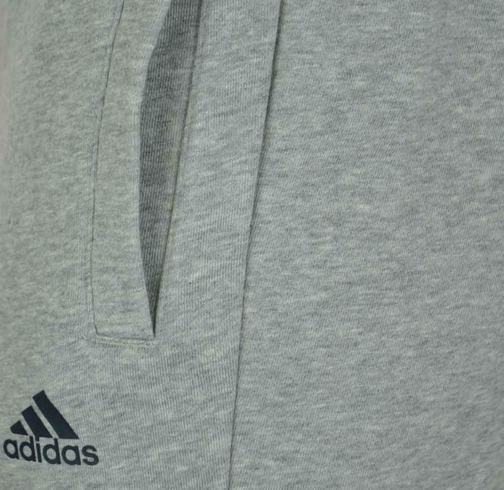 Adidas ESS S Pant FT Slim Fit Herren Sporthose Trainingshose Hellgrau – Bild 3