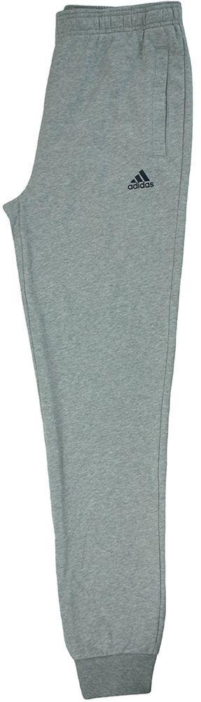 Adidas ESS S Pant FT Slim Fit Herren Sporthose Trainingshose Hellgrau – Bild 7